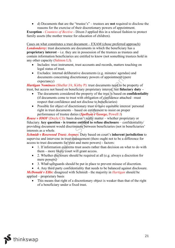 Trusts Concise Exam Notes  - Page 21
