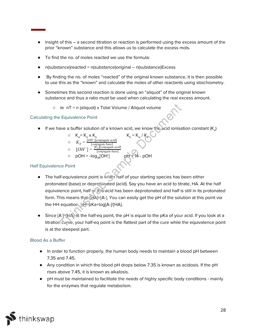 Chemistry Unit 3 Notes
