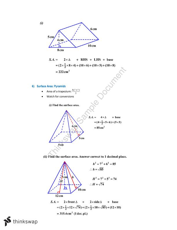 Preliminary Mathematics Study Notes