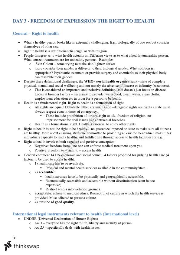 Human Rights Law Full Notes