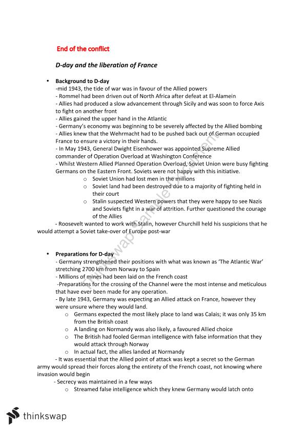 Conflict in Europe Notes - Page 26