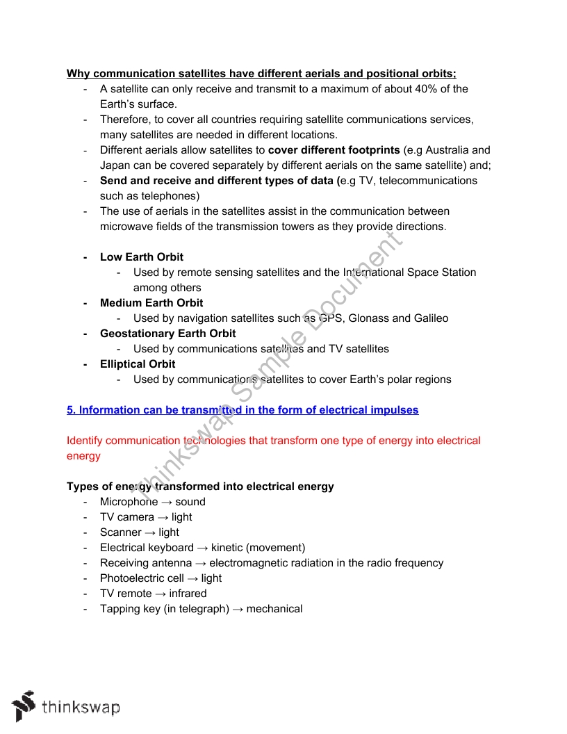 Senior Science: Information Systems Module - 26 Pages [Extensive Notes]