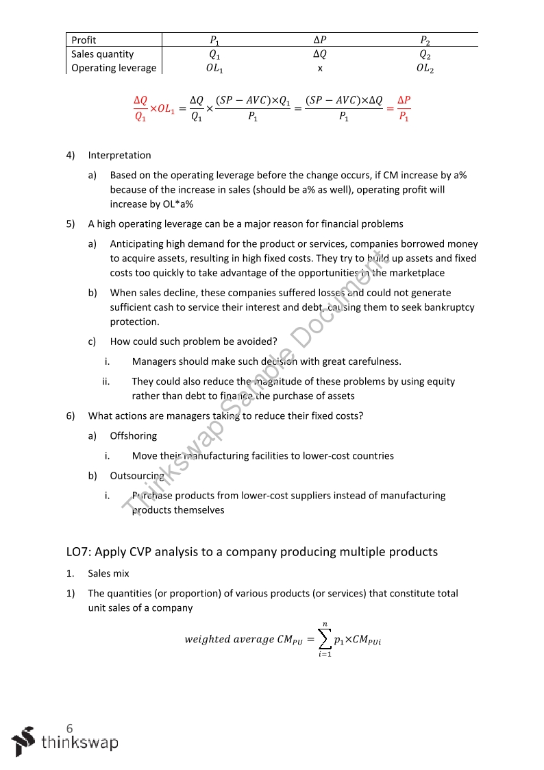 Full Study Notes of ACCT2012 with HD Level
