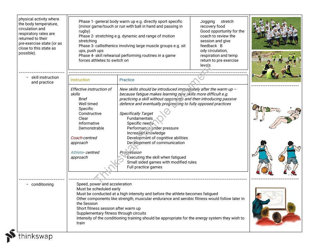 PDHPE Option 4 - Improving Performance - Whole Study Notes
