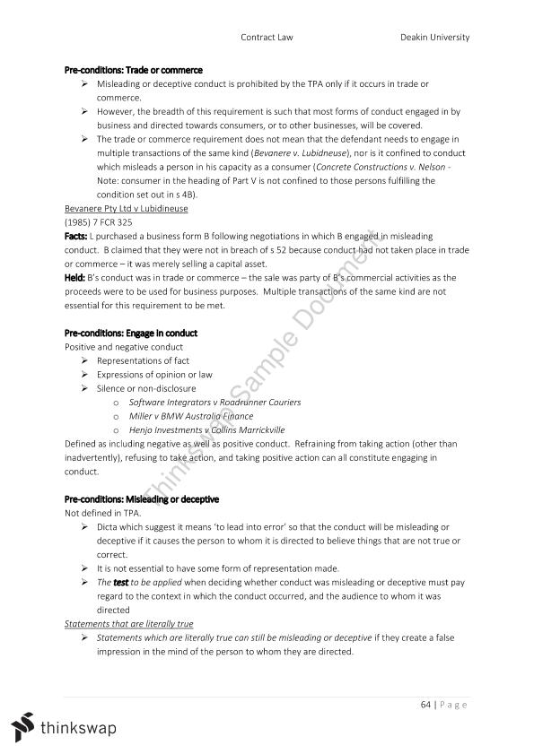 MLL111 Contract Study Notes