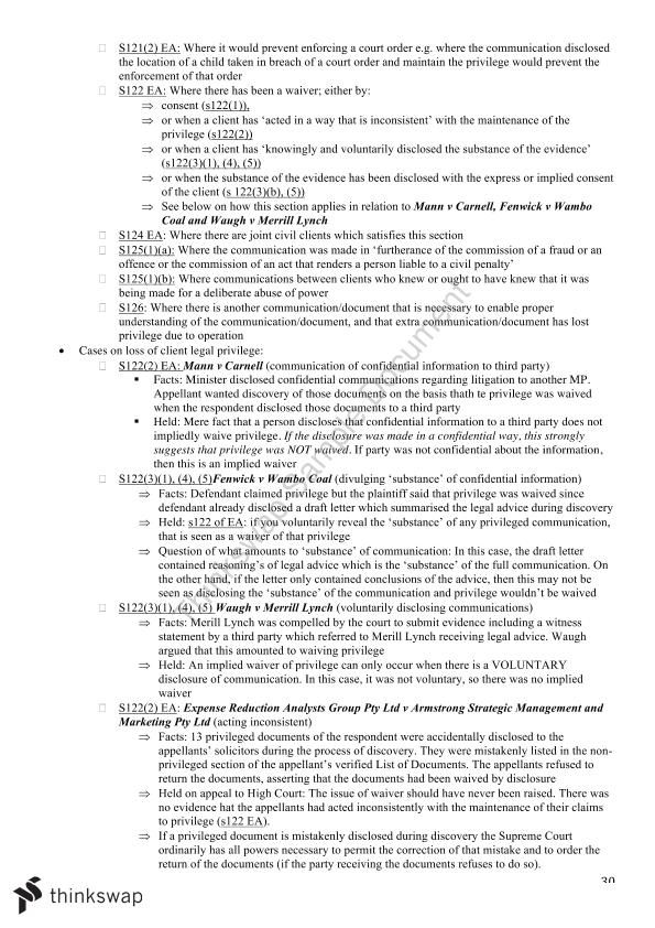 LAWS1014 Final Exam Notes