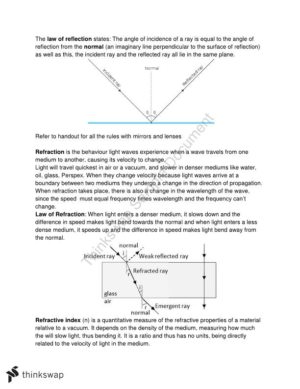 HSC Preliminary Course Physics (Year 11)