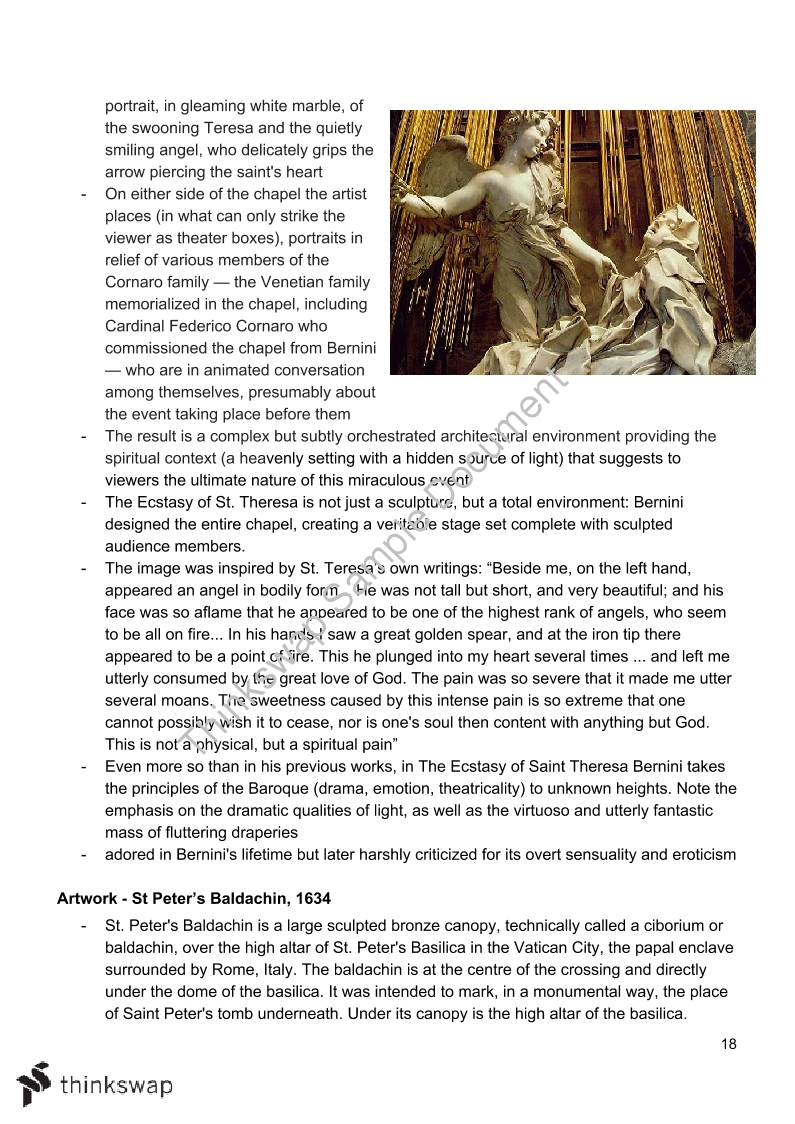 Art History Notes on Mannerism, Baroque, Neoclassicism, Caravaggio and Carraci