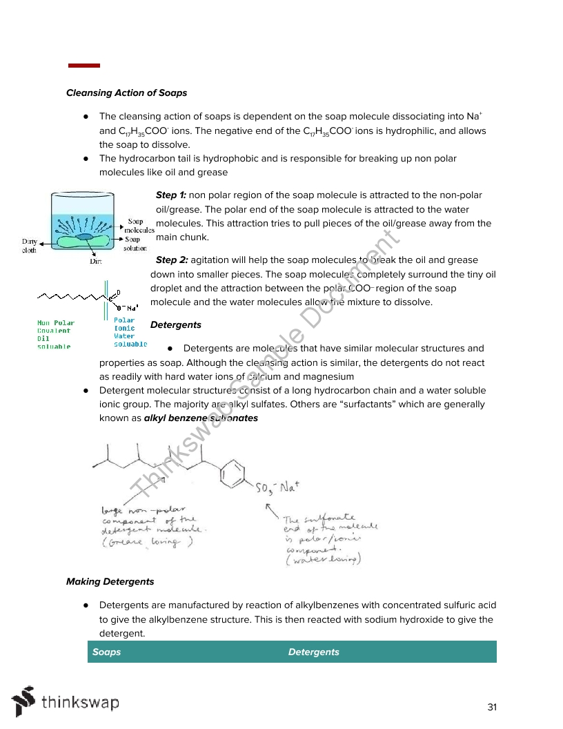 Chemistry Semester 2 Notes
