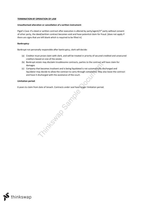 Contract Exam Template