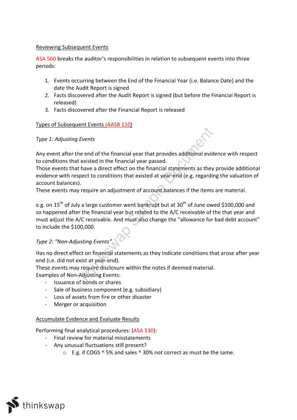 Auditing Final Exam Full Notes (lectures and book notes combines and explained)