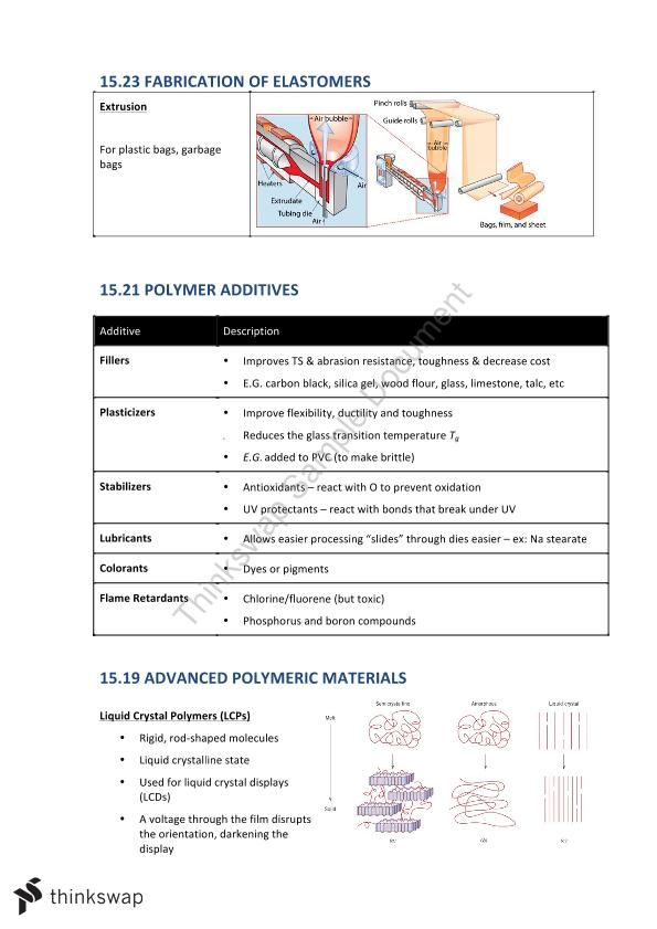 AMME1362 Complete Lecture Summary Notes