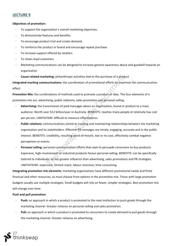 exam notes advertising and promotion Advertising and promotion:  for those studying advertising, promotion and related topics, such as  there are also explanatory notes and references for those wishing.
