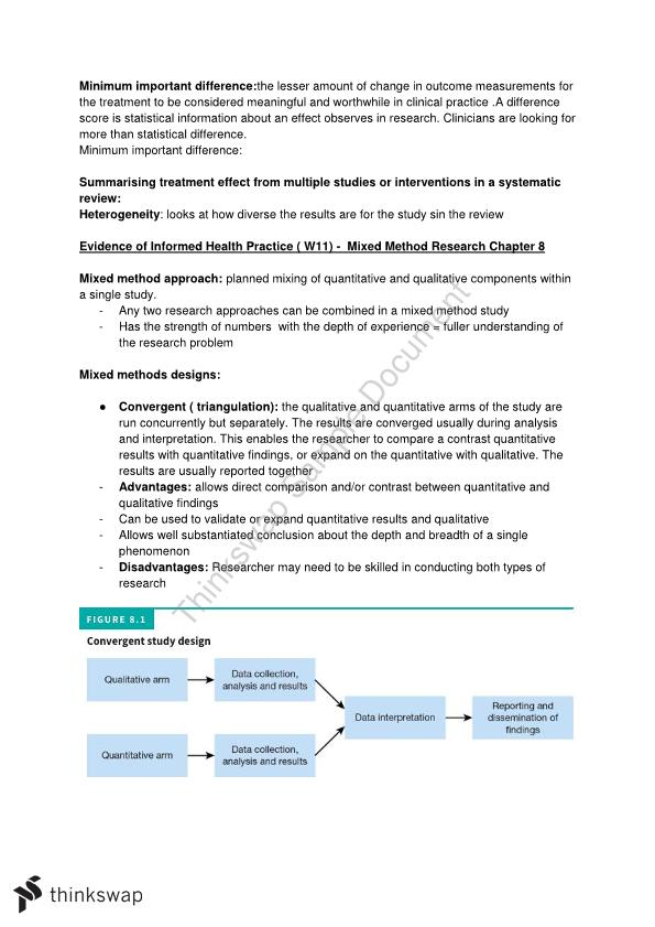 Evidence of Informed Health Practice Chapter Notes 1-12