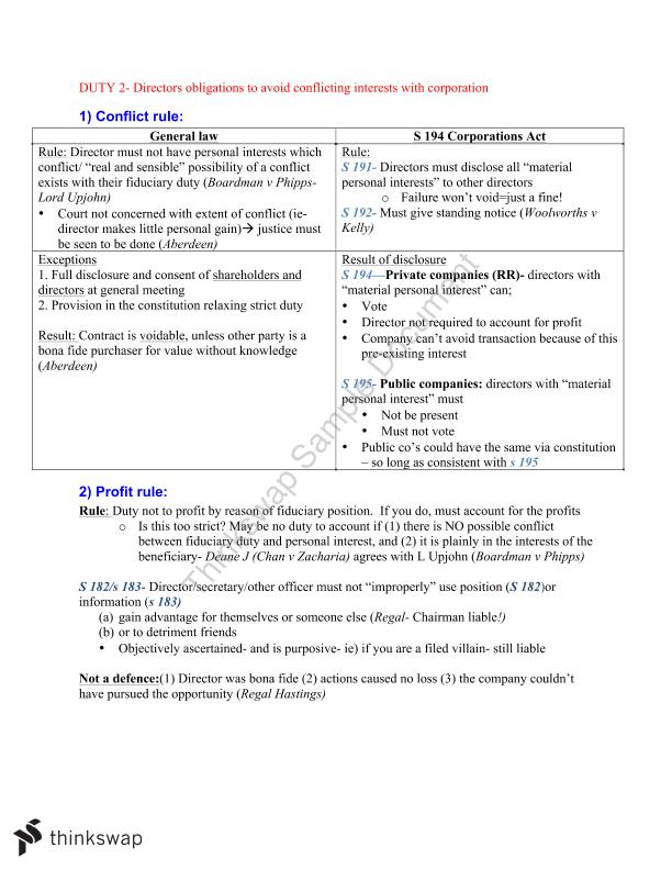 LAWS2014 Corporations Law Complete Finals Notes - Page 21