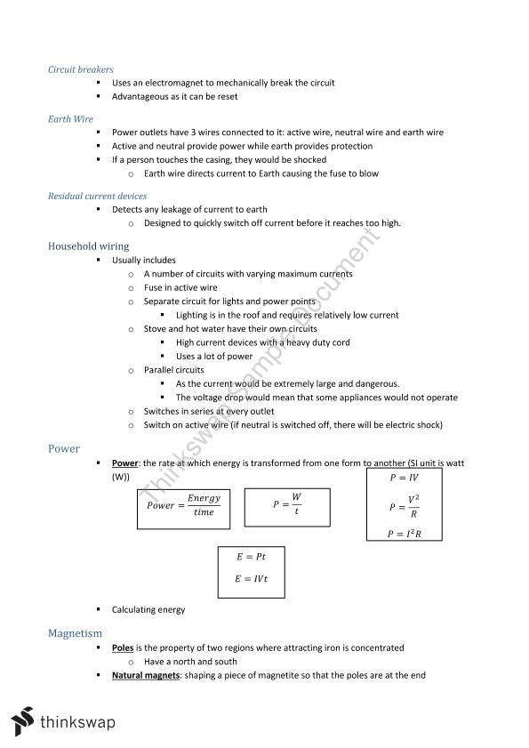Notes for Year 11 Physics | Year 11 HSC - Physics | Thinkswap