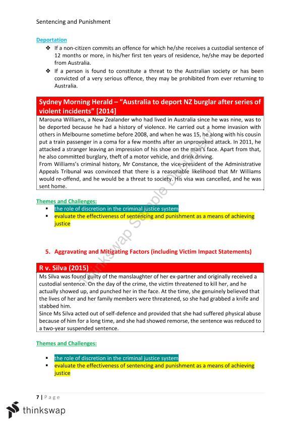 effectiveness of custodial sentences
