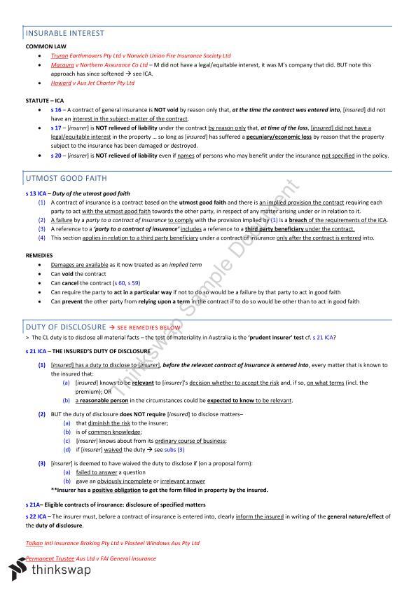 LAW4198 Australian Commercial Law Notes - HD (86) | LAW4198