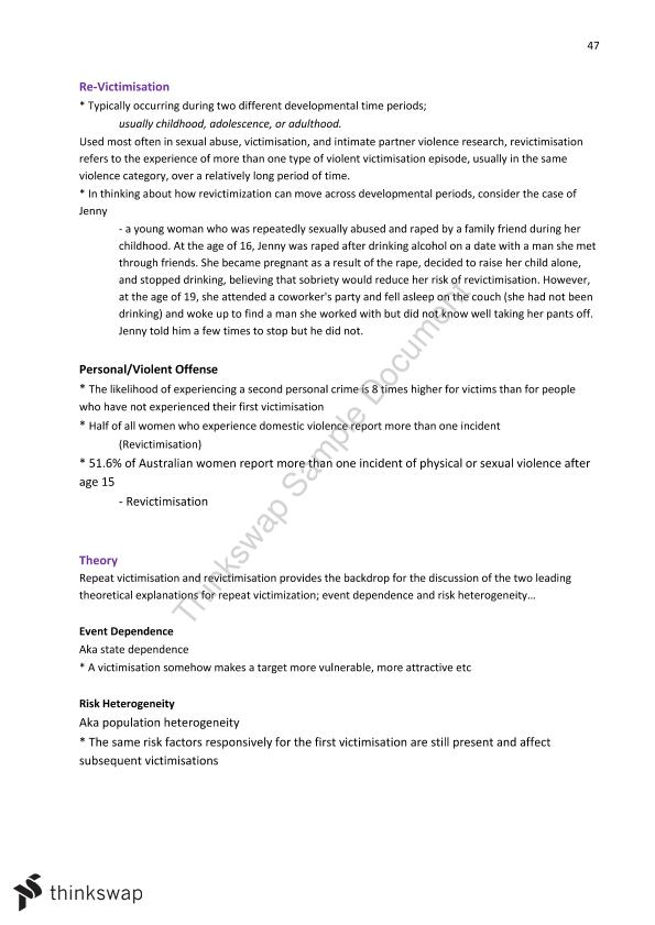Victimology Full Course Notes