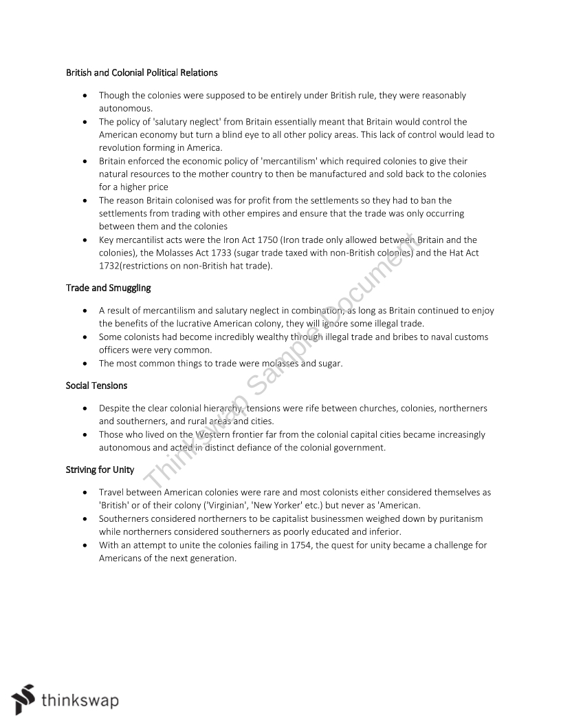 The American Revolution - AtarNotes  - Page 3
