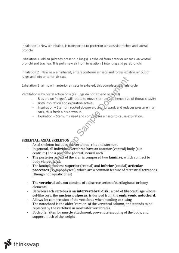 Anatomy Comparative Semester 2 Lecture Notes Anatsc2501