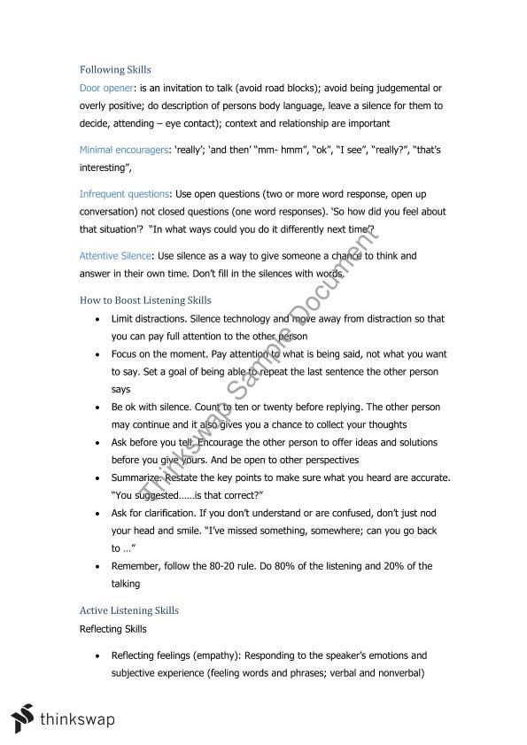 COMU1030 Final Exam Review | COMU1030 - Communication Skills