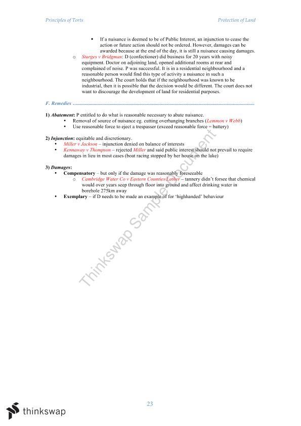 Torts exam notes Term paper Help azassignmentdrjy