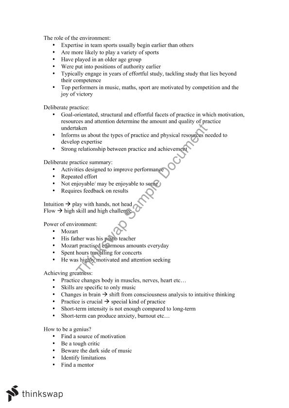 Music Psychology Complete Notes Semester 1 | MUSI20149