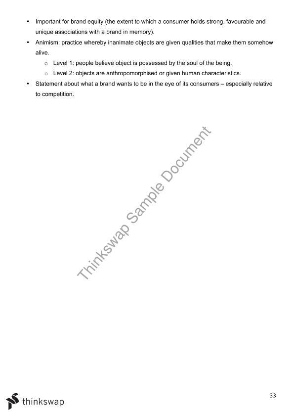 AMB200 Final Exam Study Notes | AMB200 - Consumer Behaviour | Thinkswap