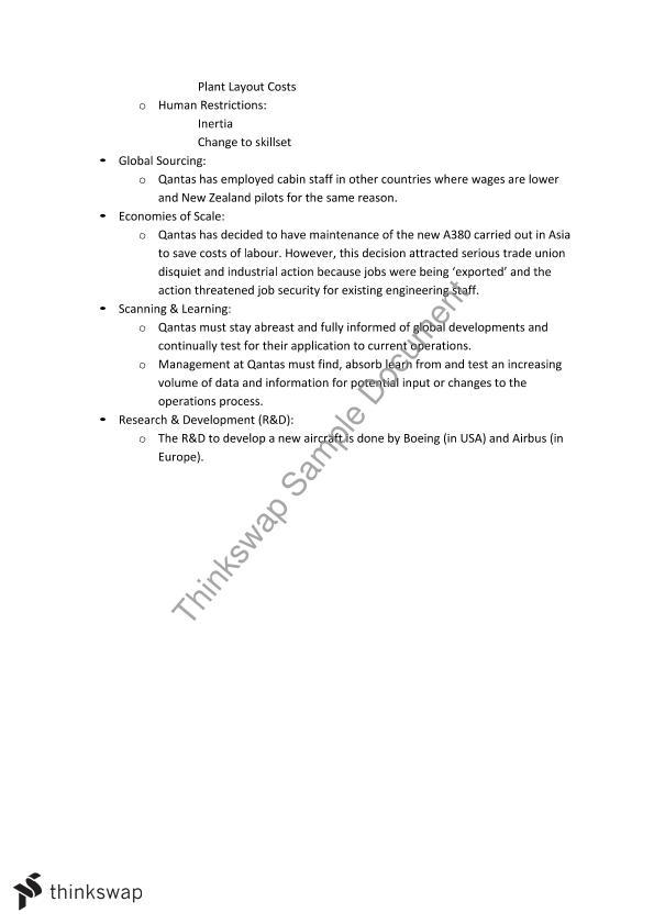 Order   Business Case Study     for HSC business studies Qantas Airline Case Study    Qantas airways