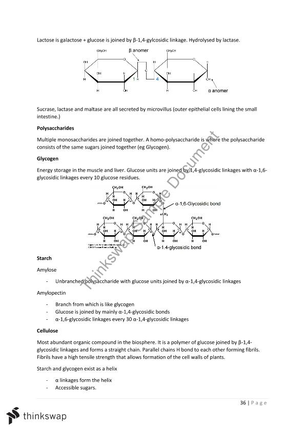 Biochemistry Lecture Notes   SLE212 - Biochemistry   Thinkswap