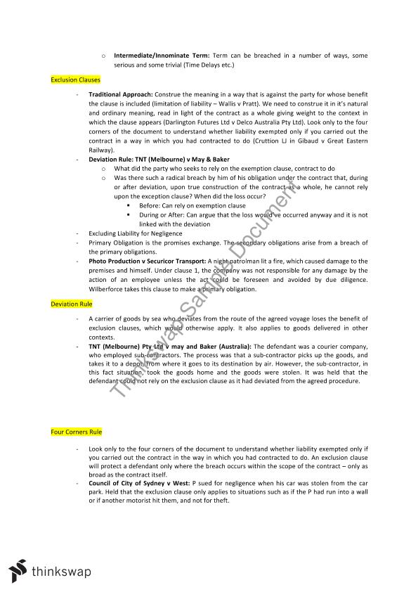 Contracts -  Study Notes