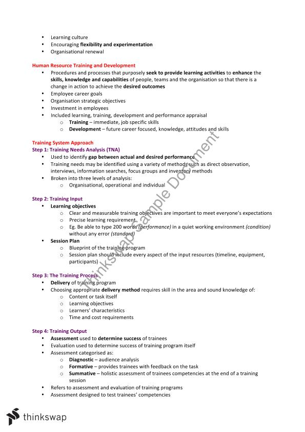 Introduction to Human Resource Management Final Study Notes - All Lectures