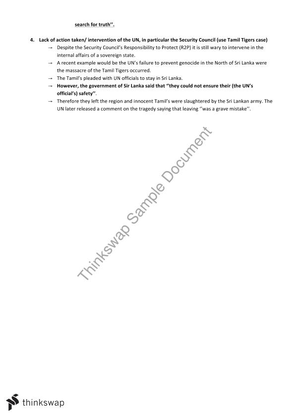 Human Rights all Notes | Year 12 HSC - Legal Studies | Thinkswap