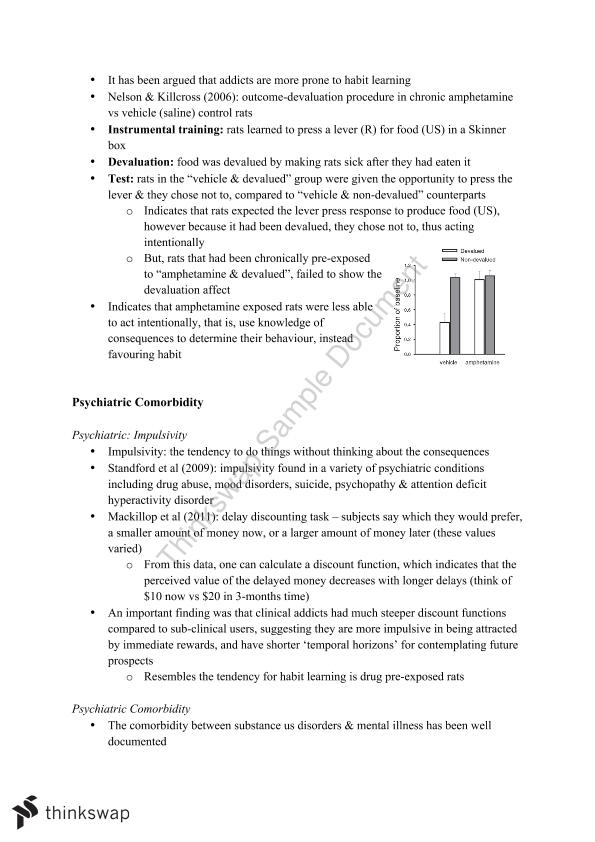 PSYC1022: Psychology of Addiction Course Notes | PSYC1022