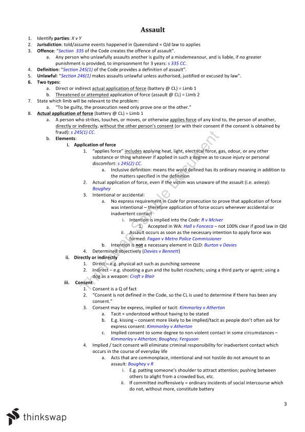 complete criminal law notes To hold your attention and keep you alert, criminal law employs a variety of  instructional techniques that should engage you from start to finish.
