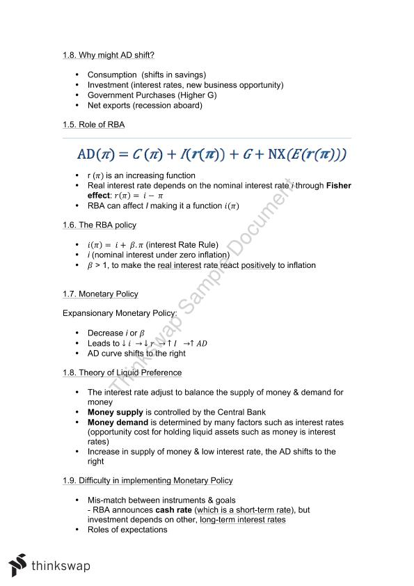 Economics for Business 2 Full Semester Notes + Summary Section for Final Exam