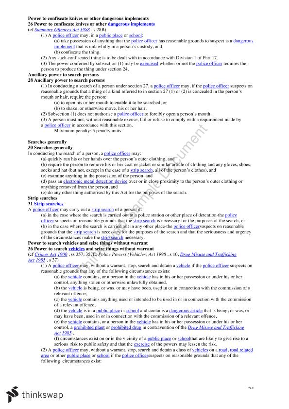 LLB 130 Criminal Law and Process A Semester Study Guide