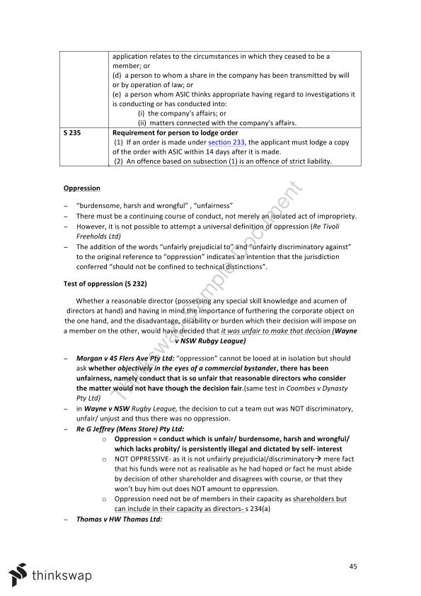 Business Associations Final Notes - Page 45