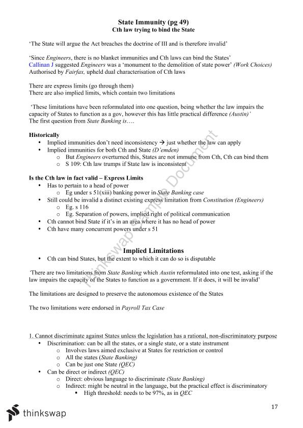 Constitutional Law Checklist with Notes