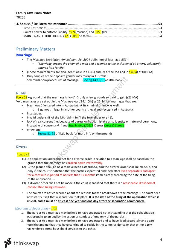 Complete Family Law Notes