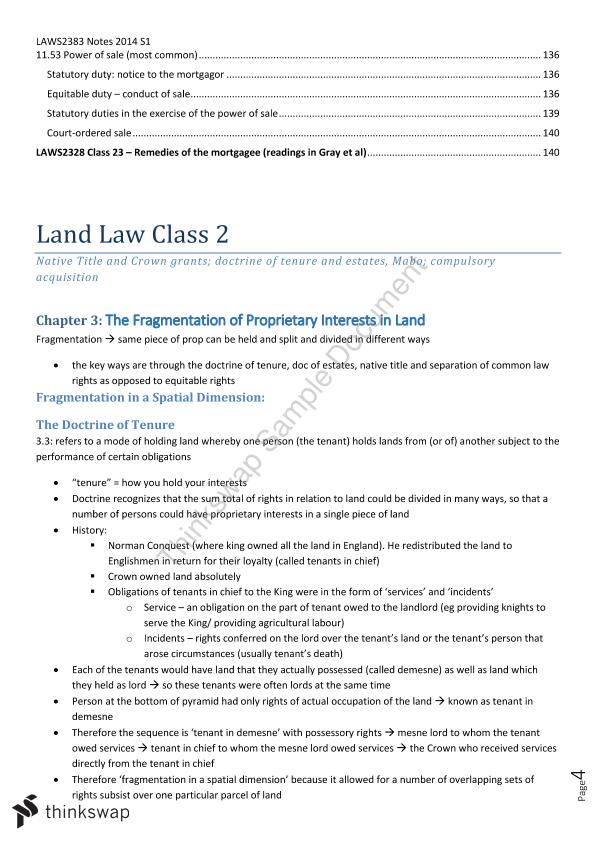 Land Law Complete Notes