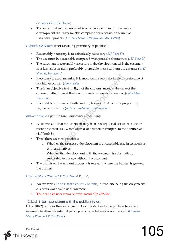 Summary Notes - Of Unit Property Law