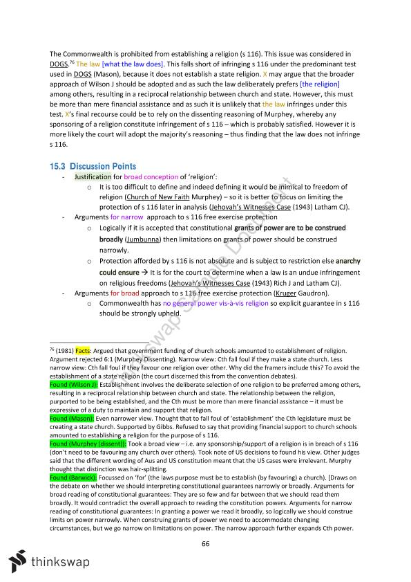 Federal Constitutional Law Final Exam Notes - Page 71