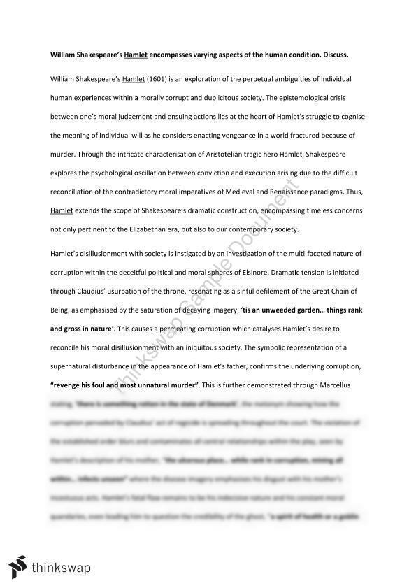 hamlet unweeded garden essay