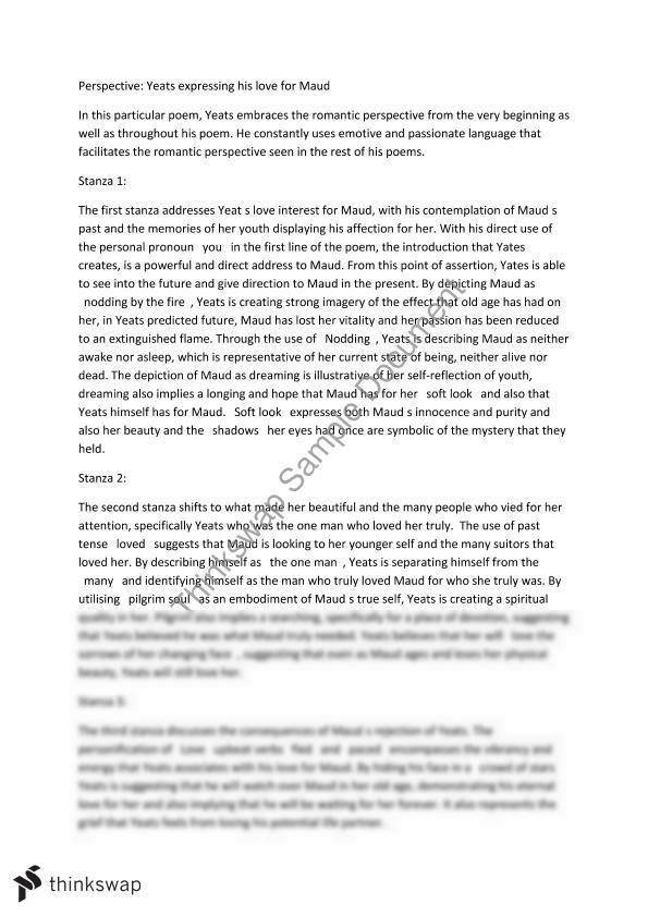 Yeats when you are old essay order esl expository essay online