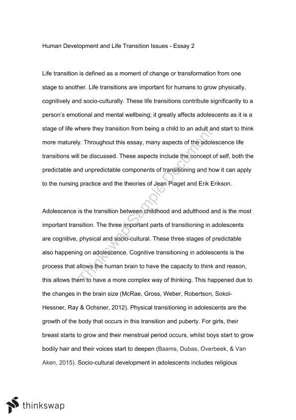 Transition from adolescence to adulthood essay sample resume of sql server dba