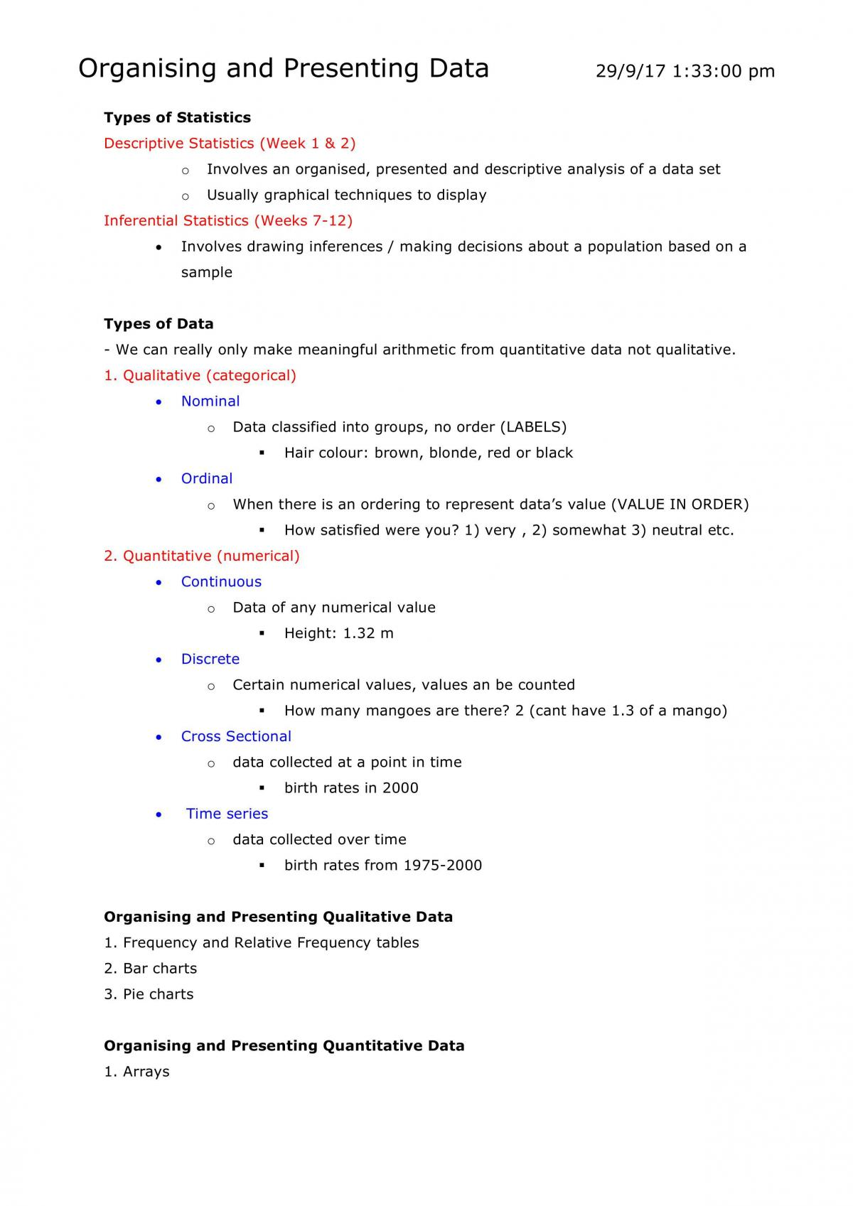 Data Analysis Notes - Page 1