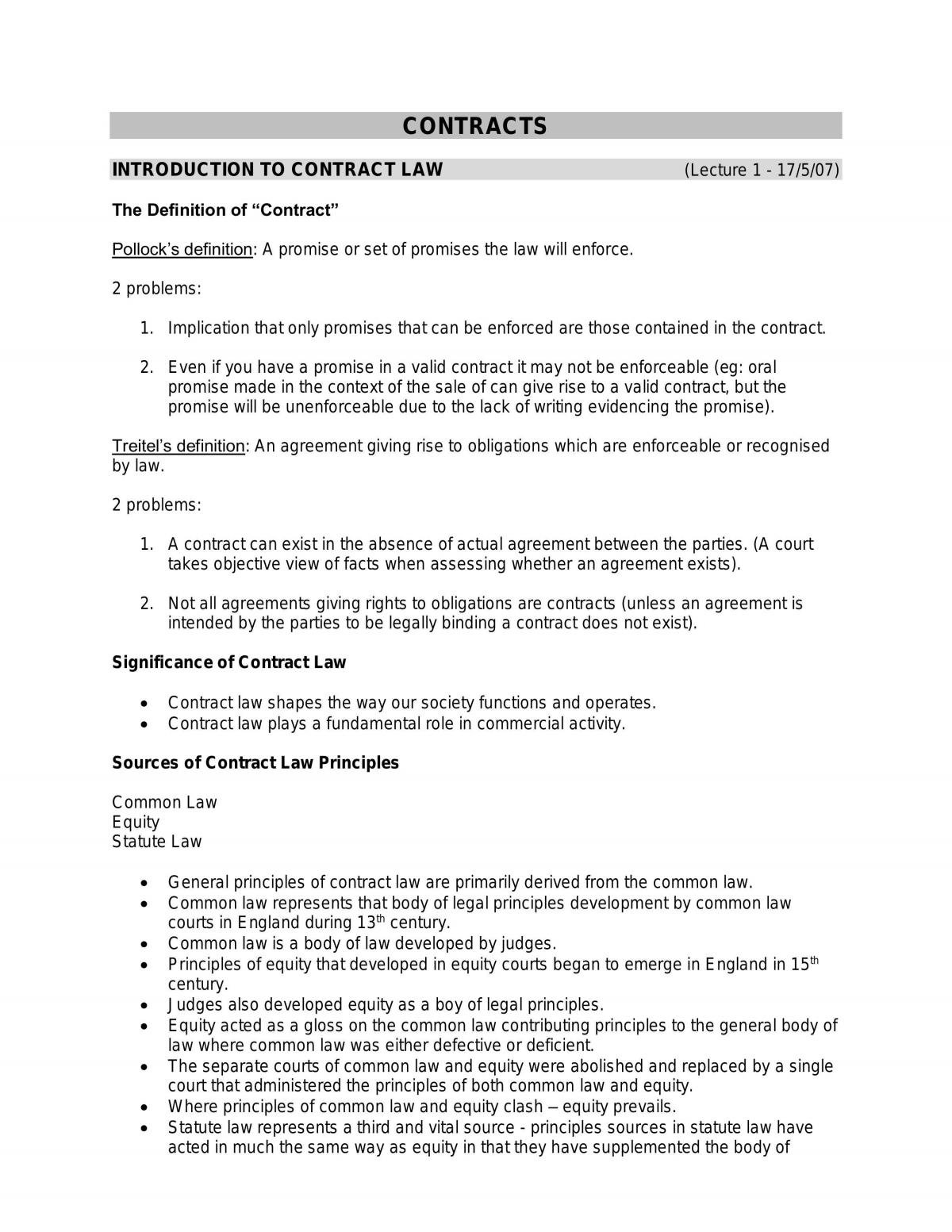 Contract Notes - Page 1