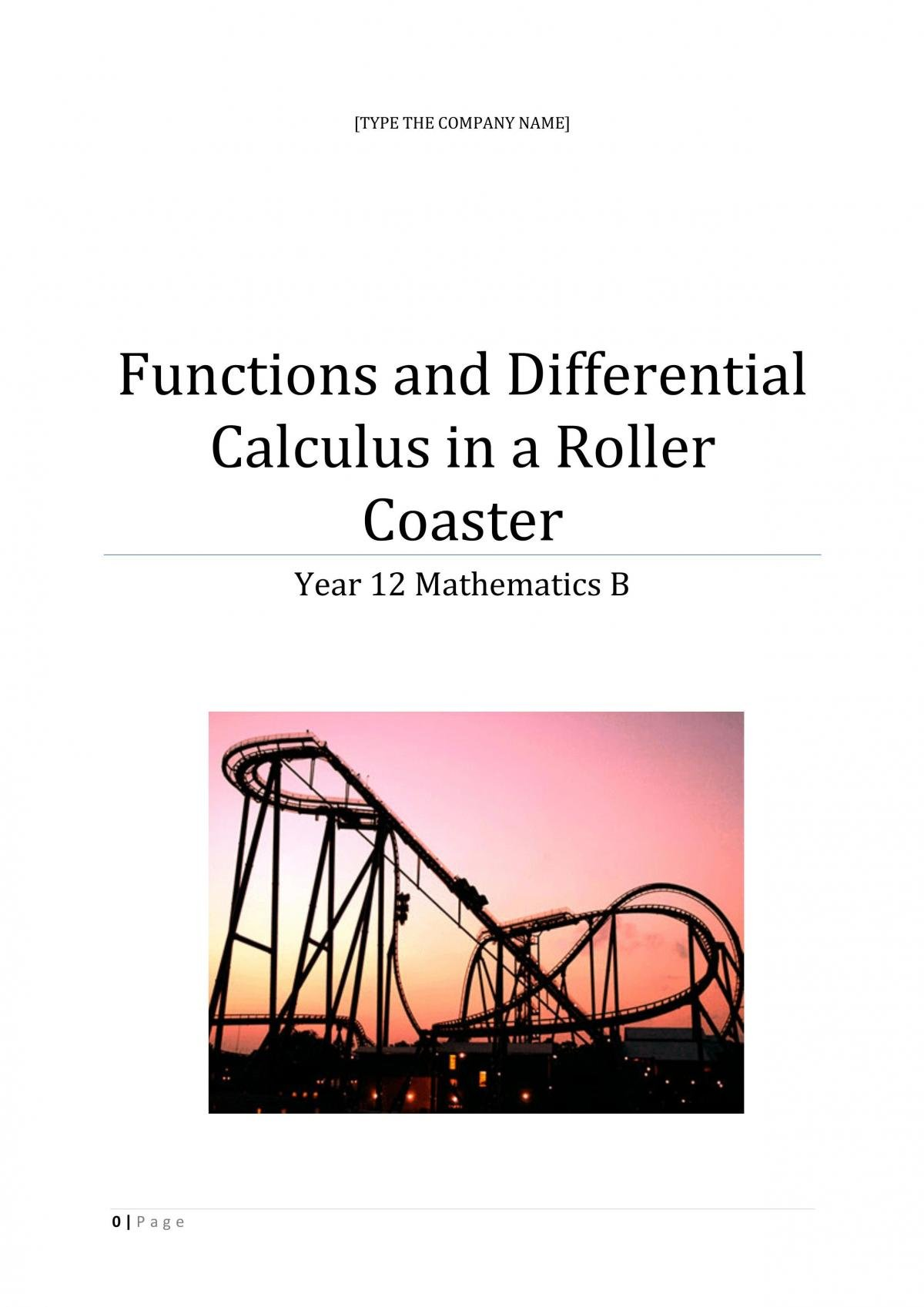 Designing a Rollercoaster with Different Functions - Page 1